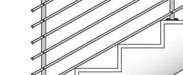Garde corps et rempardes pour escalier en béton